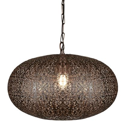1 LIGHT MOROCCAN PENDANT, ANTIQUE COPPER 2672CU