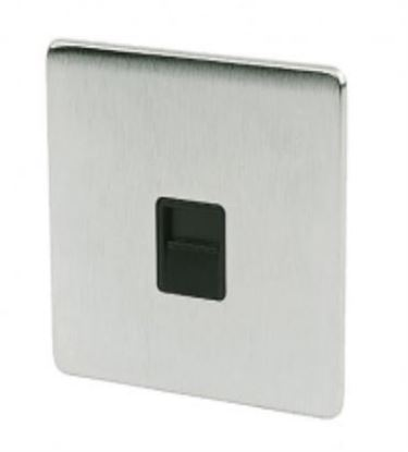 Crabtree 7783/SC Satin Chrome Slave Telephone Socket