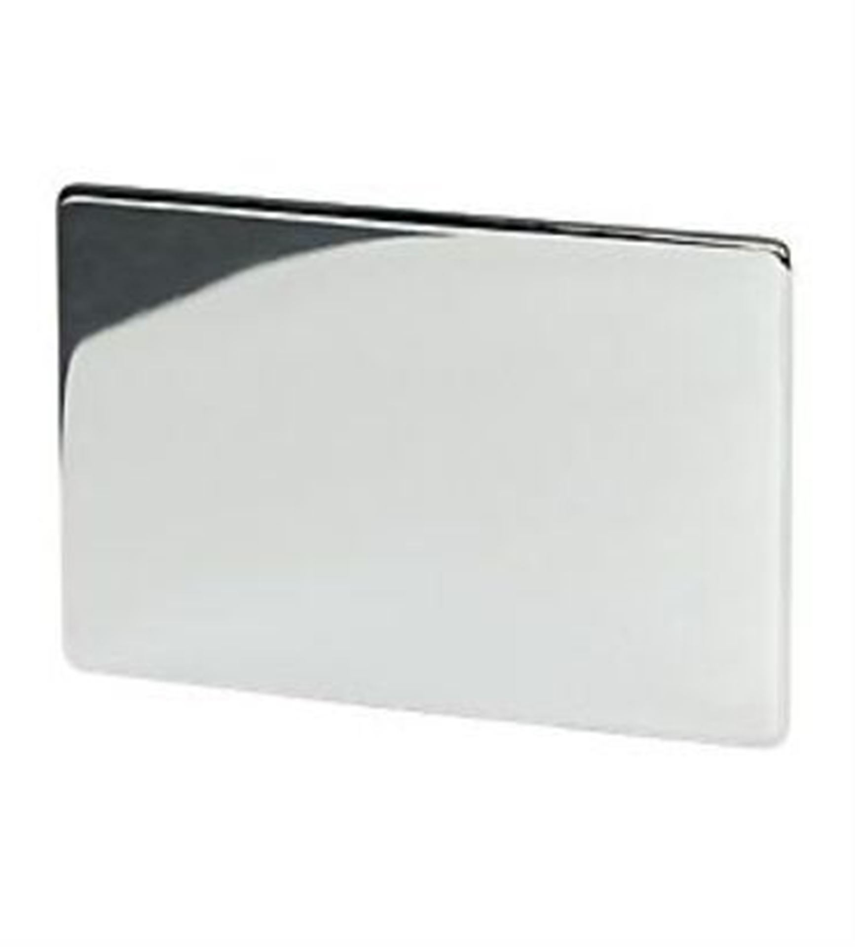 7775/HPC 1 Gang Blank Plate Polished Chrome
