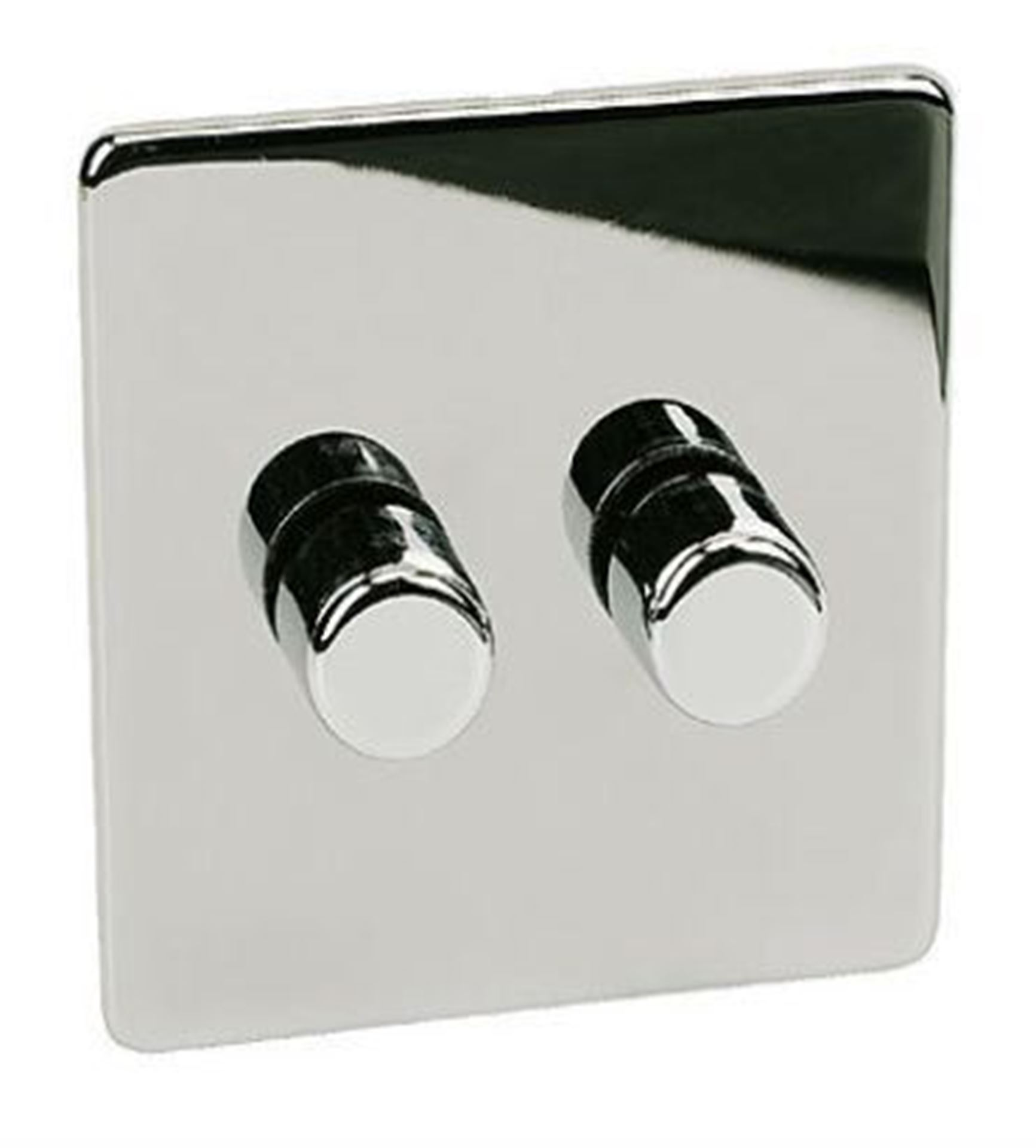 7400/D2HPC 2 Gang 400w Chrome Dimmer Switch