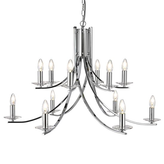 ASCONA CHROME 12 LIGHT FITTING WITH CLEAR GLASS SCONCES 41612-12CC