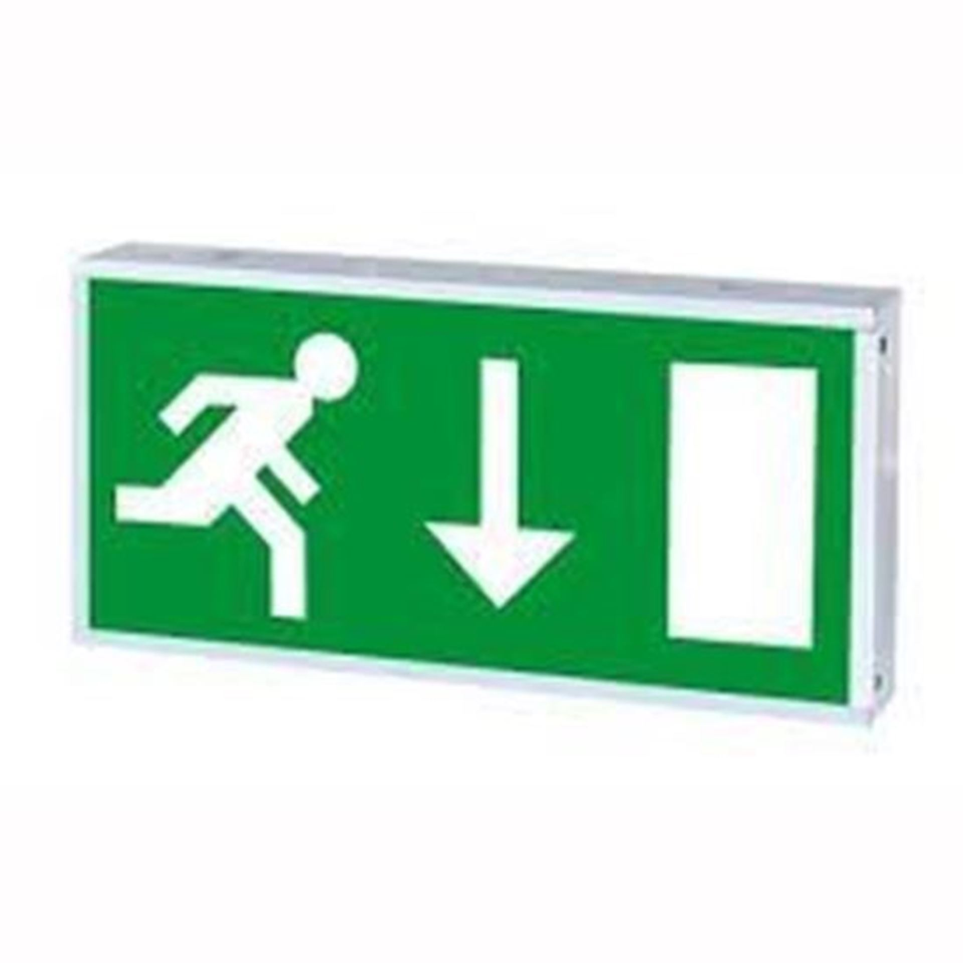 3W LED IP20 Maintained Exit Box Mounted 3HR Emergency 6500K