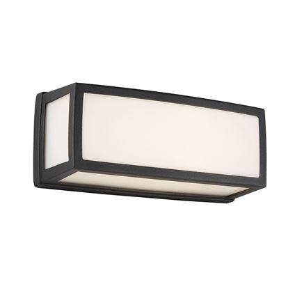 ALUMINIUM OUTDOOR LED OBLONG, DARK GREY, OPAL, POLYCARBONATE DIFFUSER WB/FLUSH 6397GY