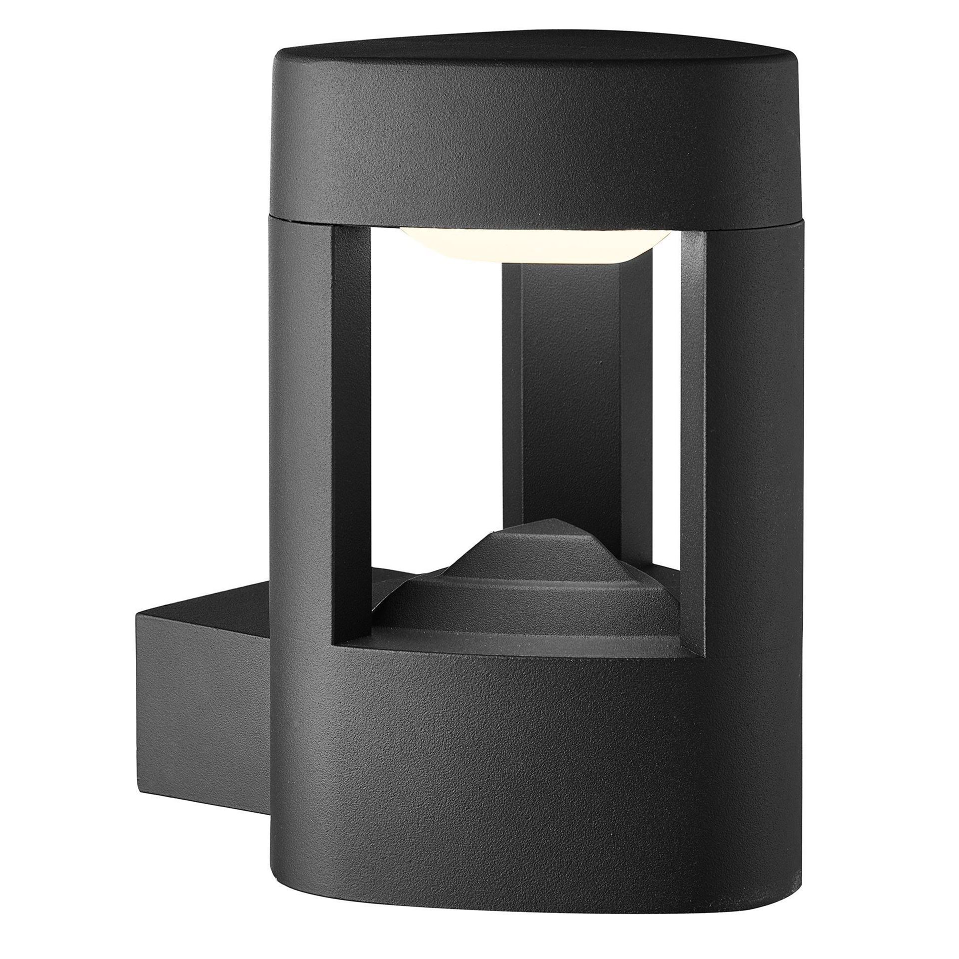 ALUMINIUM MICHIGAN IP44 GREY LED OUTDOOR WALL LIGHT, CLEAR POLYCARBONATE SHADE 2005GY