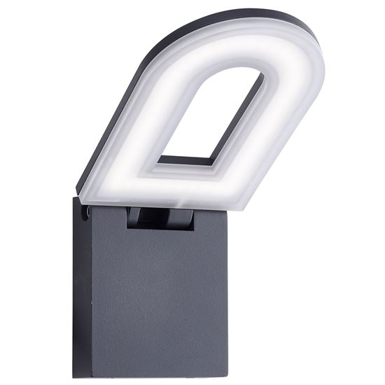 ALUMINIUM MANHATTAN IP44 GREY LED OUTDOOR WALL LIGHT FROSTED POLYCARBONATE DIFFUSER 0583GY 0583GY