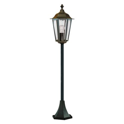 ALEX IP44 BLACK DIE CAST ALUMINIUM OUTDOOR POST LAMP CLEAR GLASS PANELS 82504BK