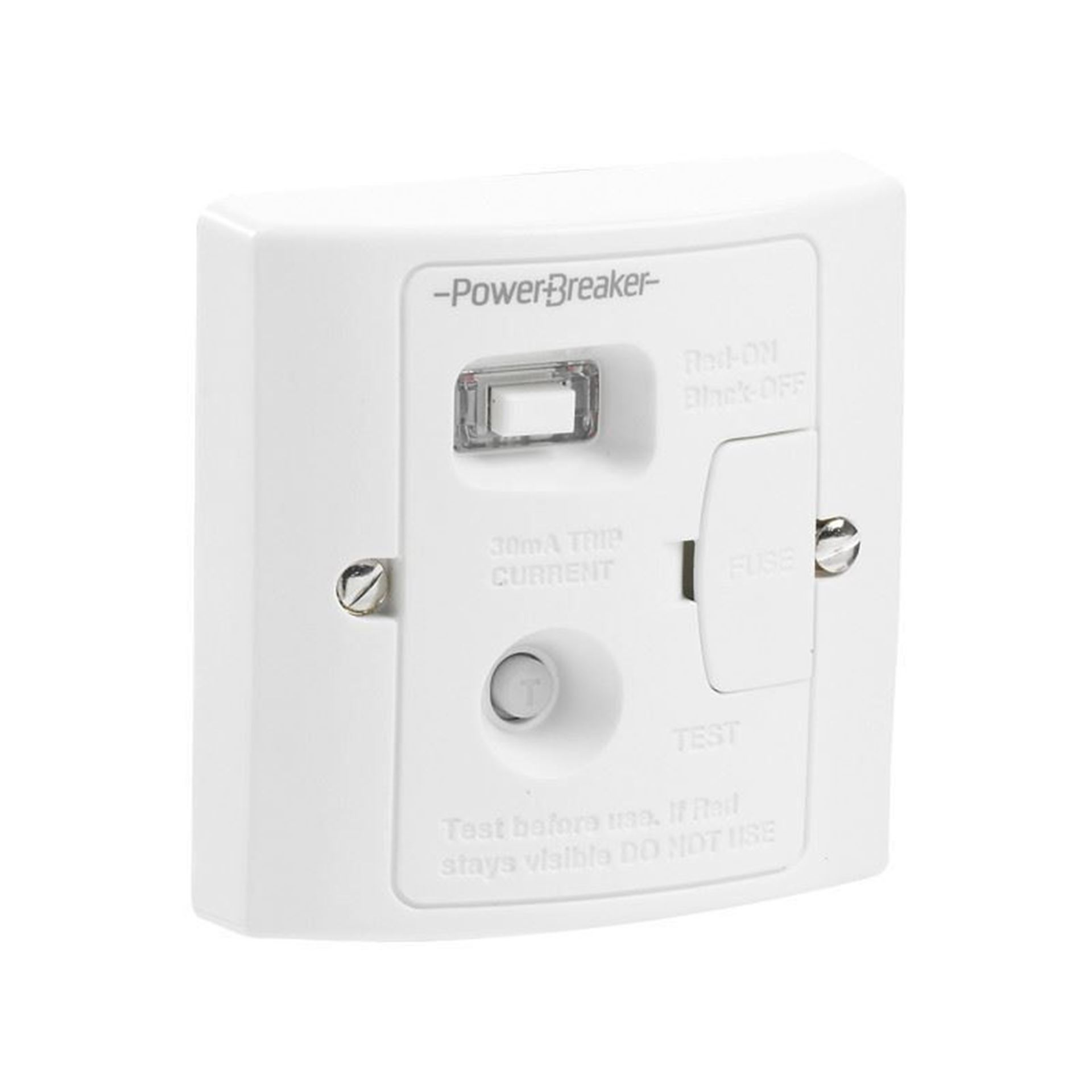 Powerbreaker H92WPA-C 13A Plastic RCD Connection Unit 30mA latching