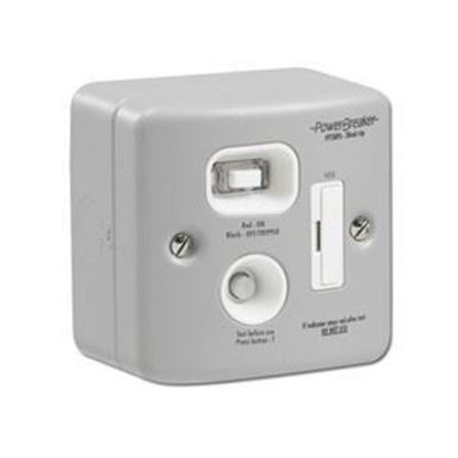 PowerBreaker Metalclad 13A RCD Fused Spur - Passive 30mA H92MPAPN-C