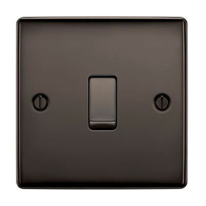 BG Nexus Metal Black Nickel Light Switch 1G 2W NBN12