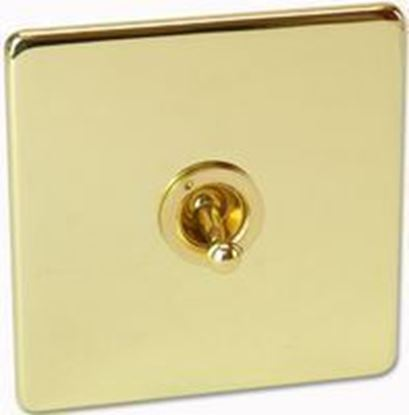 Crabtree Platinum 7T70/PB Polished Brass 1 Gang 2 Way Toggle Switch