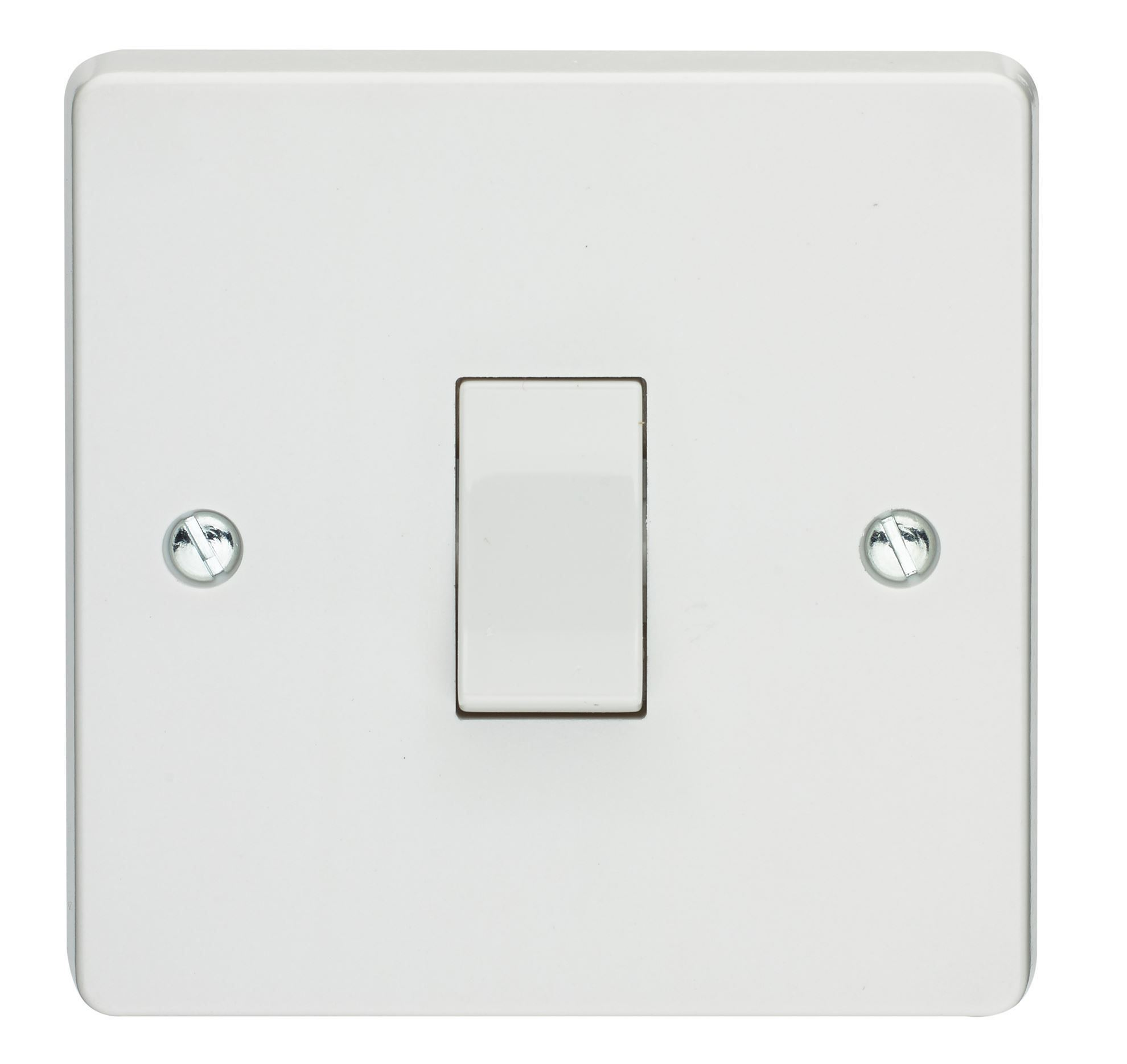 Crabtree 4304 White Moulded 1 Gang Single Pole Switchsocket 13A