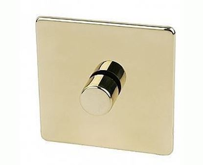 Crabtree Platinum Polished Brass 1 Gang Dimmer Switch 7400/D1PB