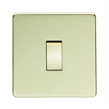 Crabtree Platinum Polished Brass 1 Gang Light Switch 7170/PB