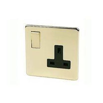 Crabtree Platinum Polished Brass 1 Gang Socket 7314/PB
