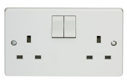 crabtree 4306 2 gang socket