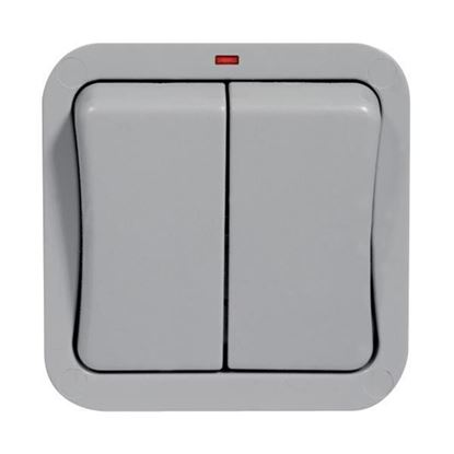 Weather-proof/storm Double Outdoor switch 20AX