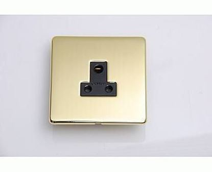 Crabtree Platinum Polished Brass 5 Amp Socket 7340/PB