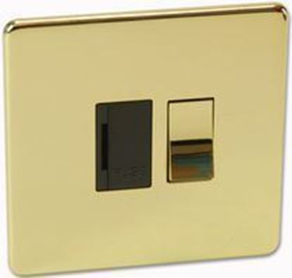 Crabtree Platinum Polished Brass Switched Fuse Spur - 7832/PB