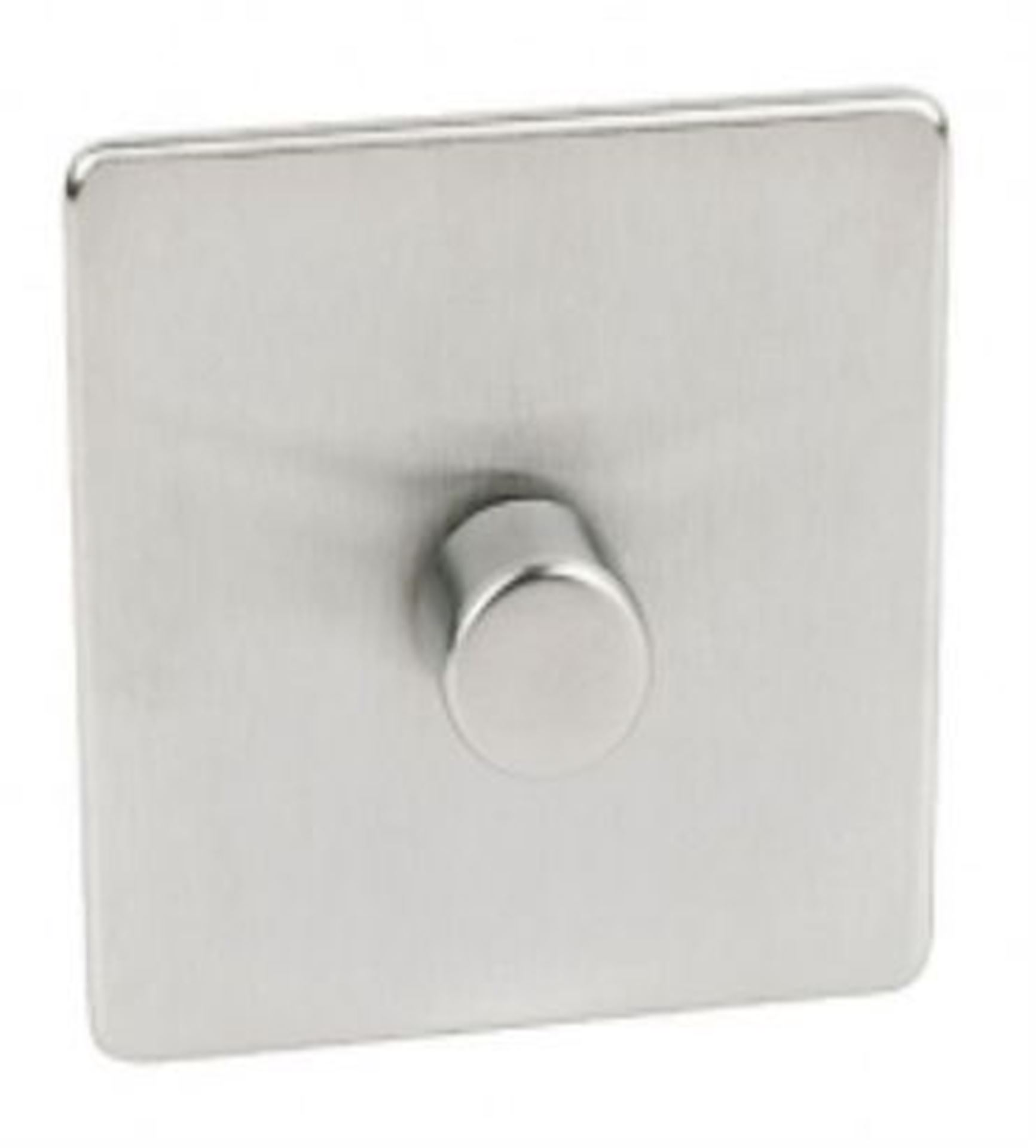 Crabtree Platinum Satin Chrome 1 Gang Dimmer Switch 400W 7400/D1SC