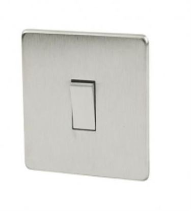 Crabtree Platinum Satin Chrome 1 Gang Light Switch 7170/SC
