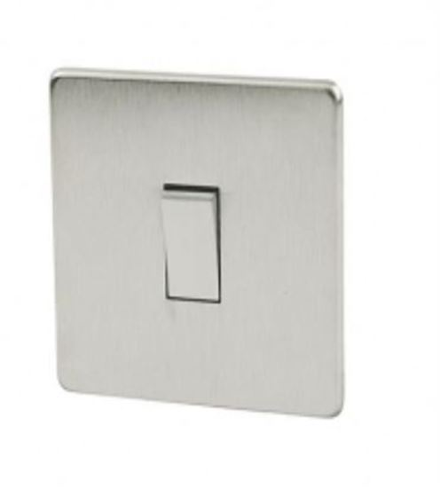 Crabtree Platinum Satin Chrome 1 Gang Light Switch 7170 Sc
