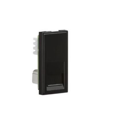 RJ11 Outlet Module 25 x 50mm (IDC) - Black NETRJ11BK