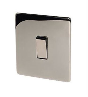 Crabtree Platinum 7170/BKN 1 Gang Black Nickel Light Switch