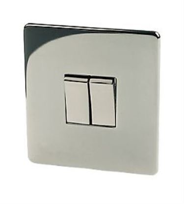 Crabtree Platinum 7172/BKN 2 Gang Black Nickel Light Switch