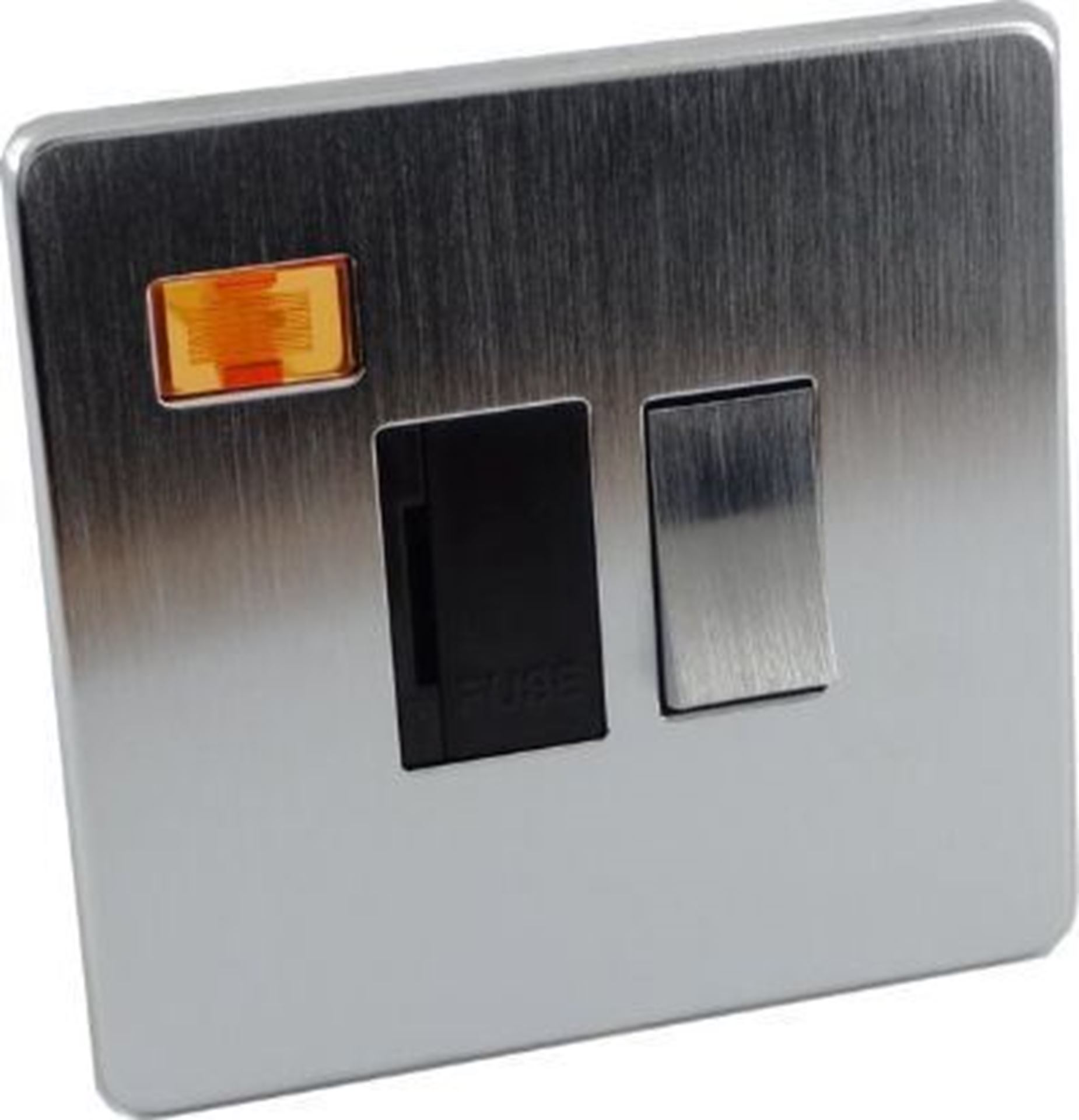 Crabtree Platinum Satin Chrome 13A Switched Fuse Spur with Neon 7832/3SC
