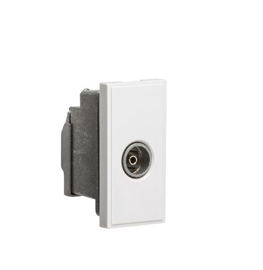 Screened TV Outlet 25 x 50mm - White NETTVSWH
