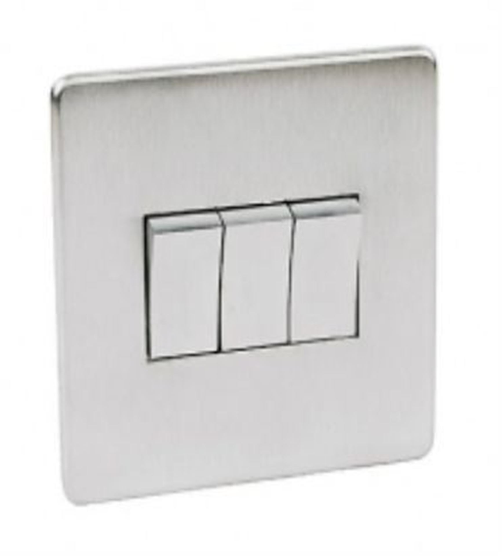 Crabtree Platinum Satin Chrome 3 Gang Light Switch 7173/SC