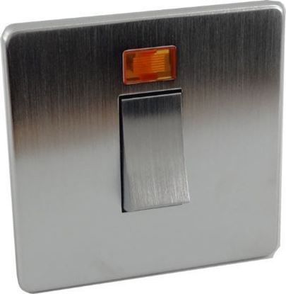 Crabtree Platinum Satin Chrome 45A Double Pole Switch 7015/3SC