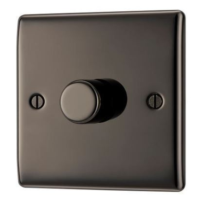 BG Nexus Metal Black Nickel Dimmer Switch Halogen/LED NBN81P