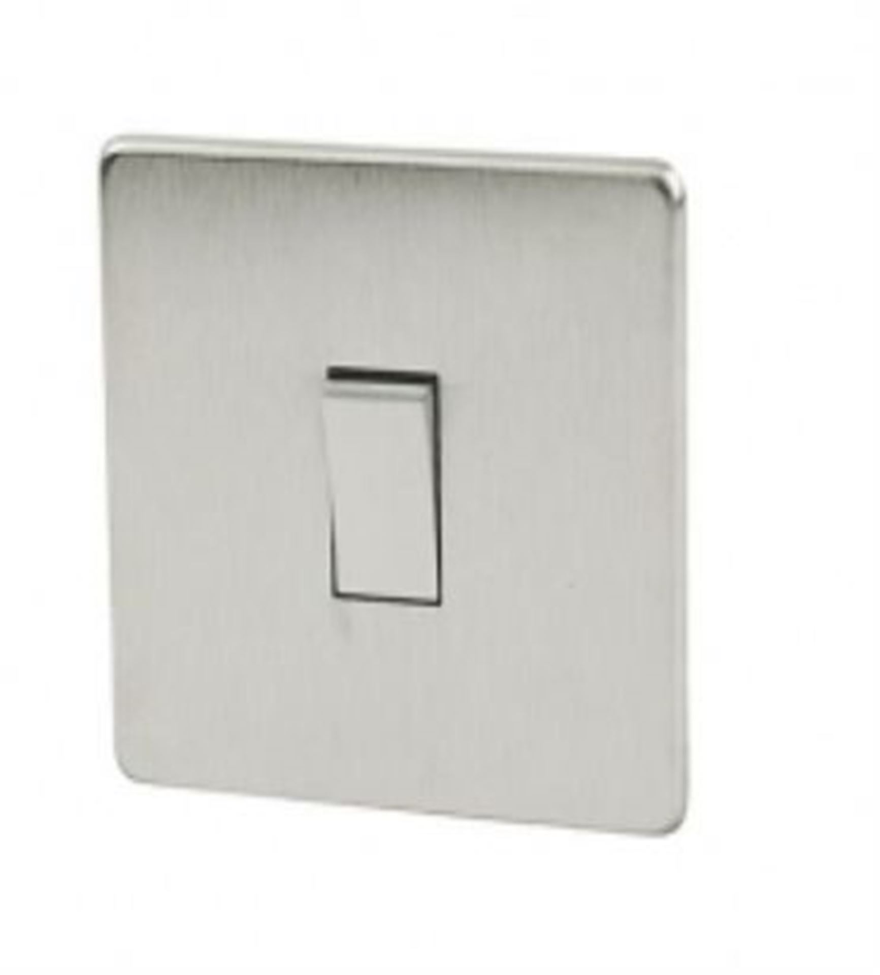 Crabtree Platinum Satin Chrome Intermediate Light Switch 7175/SC