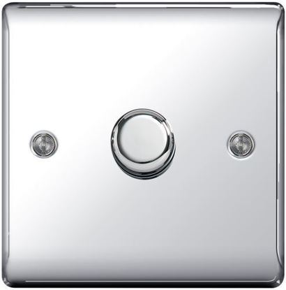NPC81P POLISHED CHROME 400W 1 GANG 2 WAY PUSH DIMMER