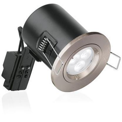 Aurora ENLITE Satin Nickel GU10 Shower Downlight EN-FD103SN