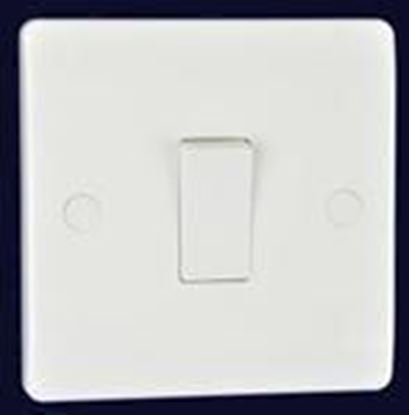 Electrical Planet EP1G1W White 1 Gang 1 Way Light Switch