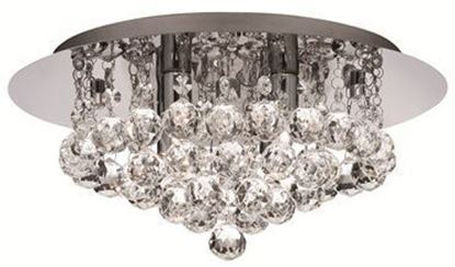 Searchlight, 3404-4CC, Hanna 4 Light Semi-Flush Ceiling Light, Polished Chrome