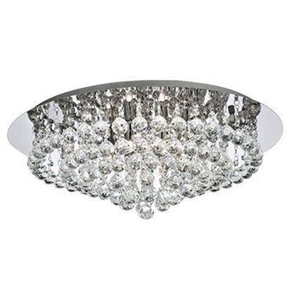 Searchlight 3408-8CC Hanna 8 Light Semi-Flush Ceiling Light Polished Chrome