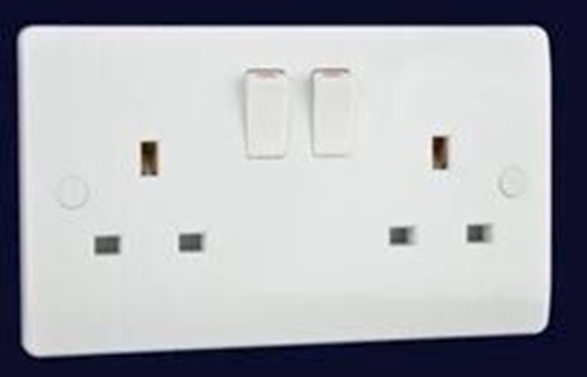 Electrical Planet EP2GSS White 2 Gang Switched Socket