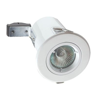 Electrical planet Round Fire Rated GU10 Downlight in White - EP-FDWH