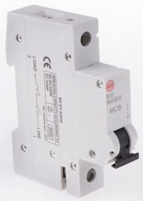 Wylex Single pole 10Amp MCB - NHXL10