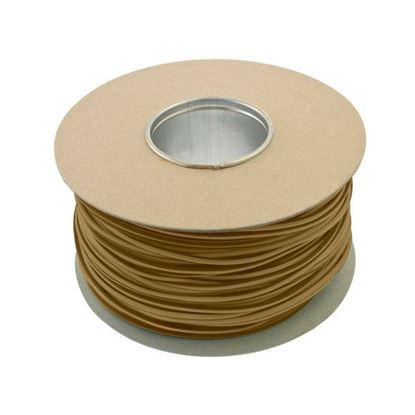 Unicrimp QES4BR Brown PVC 4mm Cable Sleeving 100m