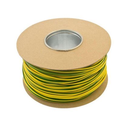 Unicrimp QES4 Green & Yellow PVC 4mm Earth Cable Sleeving 100m