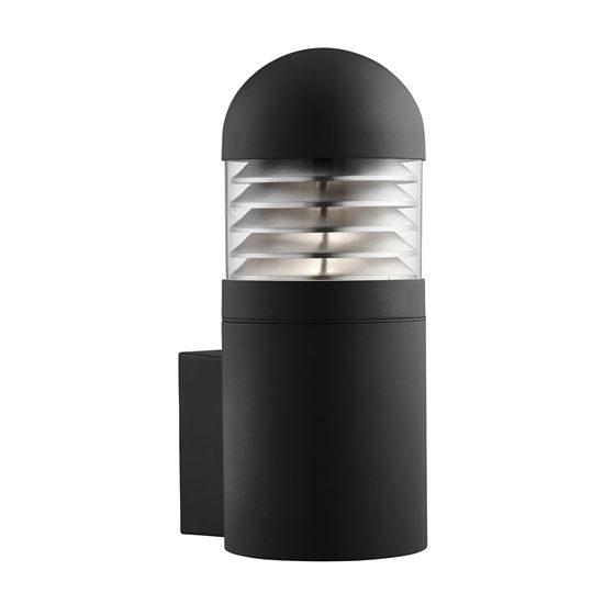 BLACK BRONX IP44 OUTDOOR WALL LIGHT WITH POLYCARBONATE DIFFUSER 7899BK