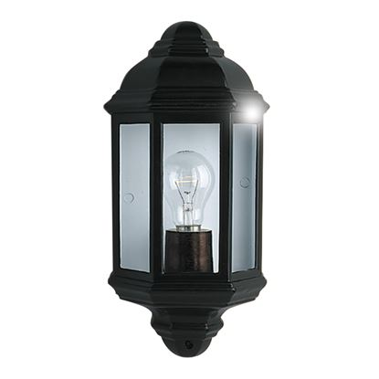 BLACK IP44 CAST ALUMINIUM OUTDOOR FLUSH LIGHT WITH CLEAR GLASS 280BK