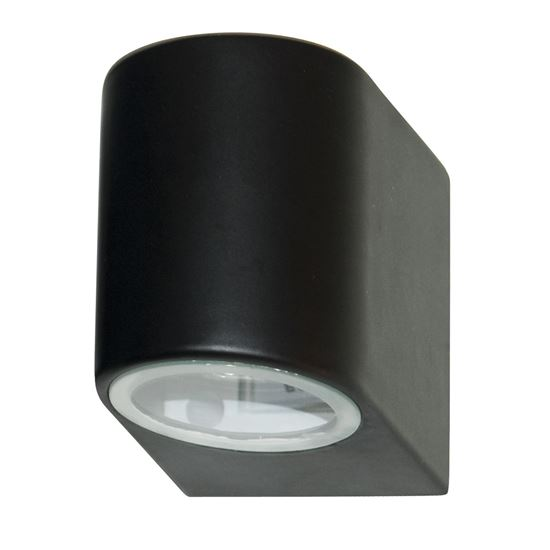 BLACK IP44 OUTDOOR LIGHT WITH FIXED GLASS LENS 8008-1BK-LED