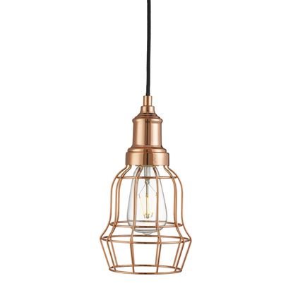 COPPER BELL CAGE PENDANT LIGHT 6847CU