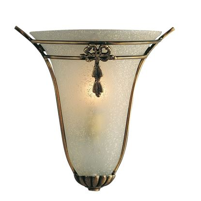 BRONZE DECORATIVE WALL LIGHT WITH OVAL SCAVO FROSTED GLASS 30002