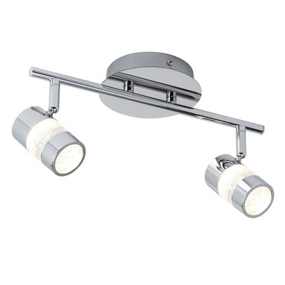 BUBBLES IP44 CHROME 2 LED SPOTLIGHT BAR/BATHROOM USE 4412CC